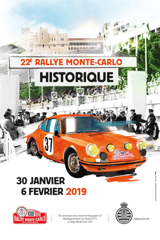 Passage du rallye Monte Carlo Historique à Saint-Bonnet-le-Froid